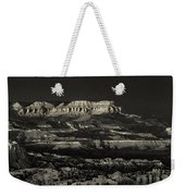 Panorama Bryce Canyon Storm In Black And White Weekender Tote Bag