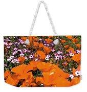 Panorama Califonria Poppies And Hollyleaf Gilia Wildflowers Weekender Tote Bag