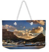 Panorama Cape Town Harbour At Sunset Weekender Tote Bag