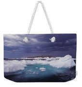 Panorama Ice Floes In A Stormy Sea Wager Bay Canada Weekender Tote Bag