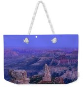 Panorama Moonrise Over Point Imperial Grand Canyon National Park Weekender Tote Bag