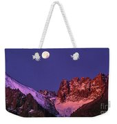 Panorama Moonset Middle Palisades Glacier Eastern Sierras California Weekender Tote Bag