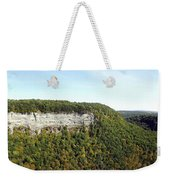 Panorama Of Cliff At Letchworth State Park Weekender Tote Bag