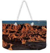 Panorama Of Hoodoos At Sunset Goblin Valley State Park Utah Weekender Tote Bag