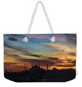 Panorama Of Istanbul Sunset- Call To Prayer Weekender Tote Bag