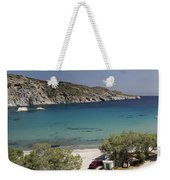Panorama Of Mandrakia Fishing Village Milos Greece Weekender Tote Bag