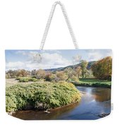 Panorama Of The Little River At Stowe Vermont Weekender Tote Bag