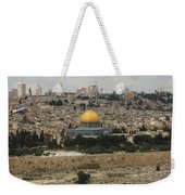 Panorama Of The Temple Mount Including Al-aqsa Mosque And Dome Weekender Tote Bag