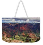 Panorama Of Waimea Canyon Hawaii Weekender Tote Bag by David Smith