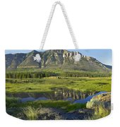 Panorama Of Windy Mountain Wyoming Weekender Tote Bag