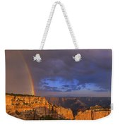 Panorama Rainbow Over Cape Royal North Rim Grand Canyon National Park Weekender Tote Bag