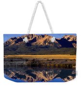 Panorama Reflections Sawtooth Mountains Nra Idaho Weekender Tote Bag