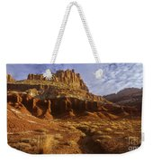 Panorama The Castle On A Cloudy Morning Capitol Reef National Park Weekender Tote Bag