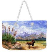 Panorama Triptych Don't Fence Me In  Weekender Tote Bag