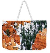 Panorama Winter Storm Blankets Thors Hammer And Bryce Canyon Weekender Tote Bag