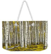 Panoramic Birch Tree Forest Weekender Tote Bag