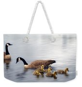 Panoramic Goose Family Outing Weekender Tote Bag