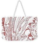 Panoramic Grunge Etching Burgundy Color Weekender Tote Bag