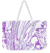 Panoramic Grunge Etching Purple Color Weekender Tote Bag