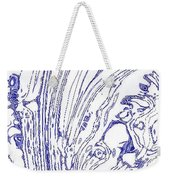 Panoramic Grunge Etching Royal Blue Color Weekender Tote Bag