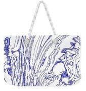 Panoramic Grunge Etching Royal Blue Color Weekender Tote Bag