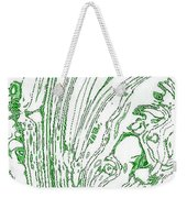 Panoramic Grunge Etching Sage Color Weekender Tote Bag