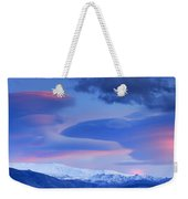 Panoramic Lenticular Clouds Over Sierra Nevada National Park Weekender Tote Bag