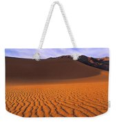 Panoramic Mesquite Sand Dune Patterns Death Valley National Park Weekender Tote Bag