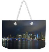 Panoramic Of Miami Florida Weekender Tote Bag