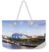 Panoramic Of Newcastle And Gateshead Quayside Weekender Tote Bag