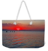 Panoramic Summer Sunset Weekender Tote Bag