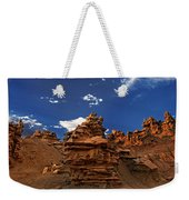 Panoramic Sunset Light On Sandstone Formations Fantasy Canyon  Weekender Tote Bag