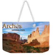 Panoramic View Of Arches National Park  Weekender Tote Bag