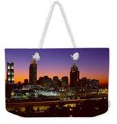 Panoramic View Of Atlanta Skyline Weekender Tote Bag
