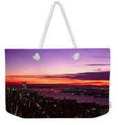 Panoramic View Of Empire State Weekender Tote Bag