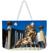 Panoramic View Of Mgm Lion And Mgm Weekender Tote Bag