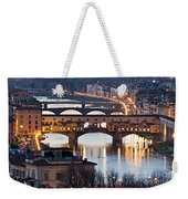 Panoramic View Of Ponte Vecchio - Florence - Tuscany Weekender Tote Bag