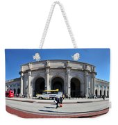 panoramic View of Union station in Washington DC Weekender Tote Bag