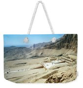 Panoramic View Over Hatschepsut Temple Weekender Tote Bag