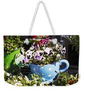 Cup Of Pansies Weekender Tote Bag