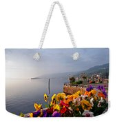 Pansies On Lake Maggiore Weekender Tote Bag