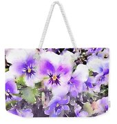 Pansies Watercolor Weekender Tote Bag