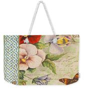 Pansy Garden-a Weekender Tote Bag