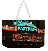 Pantages Theather Marquie Weekender Tote Bag