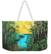 Panther Island In The Bayou Weekender Tote Bag