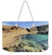 Papagayo Beach On Lanzarote Weekender Tote Bag