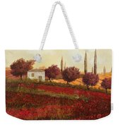 Papaveri In Toscana Weekender Tote Bag