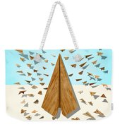 Paper Airplanes Of Wood 10 Weekender Tote Bag