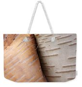Paper Birch Bark Weekender Tote Bag