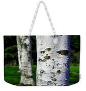 Paper Birch Trees Weekender Tote Bag